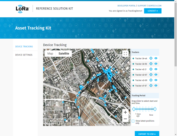 Web Interface - Device Tracking View