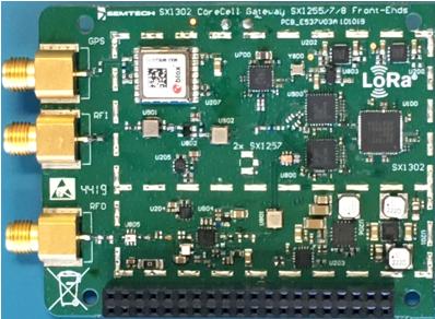 SX1302 and SX1257 Corecell Board